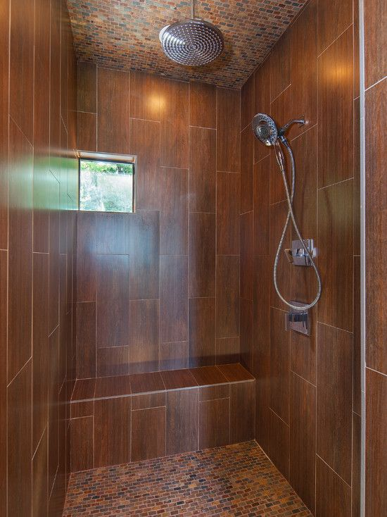 Ceramic Tile Looks Like Wood Shower | Bathroom: Cool Bathroom With Ceramic  Tile That Looks