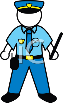 Police Person Uniform Cartoon Home Clipart Occupations