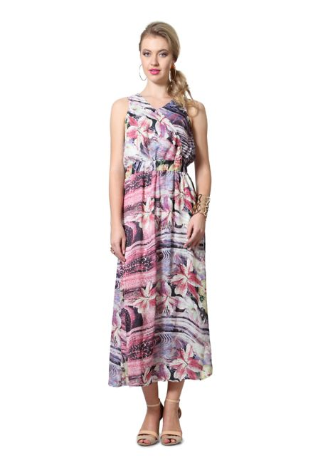 60c0c6d0434 Floral Multicoloured Dress from RIG for Rs.1799 | Dresses Starting ...