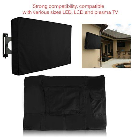 Simple Modern Moistureproof Waterproof Dust Protective Lcd Led Outdoor Television Cover Suitable For 30 32 Inch Tv Black 32 Inch Tv Television Cover