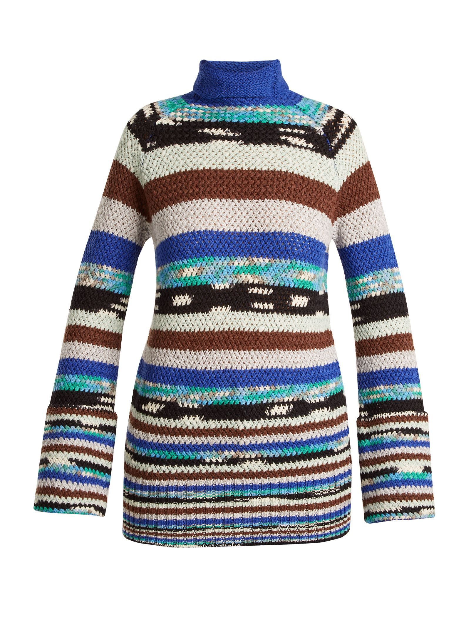 bd4fe9e5189cc6 Missoni Roll-neck striped wool-blend knit sweater at MATCHESFASHION ...