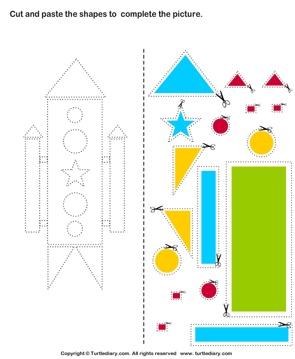 cut and paste rocket teaching two year olds cut paste worksheets worksheets for kids. Black Bedroom Furniture Sets. Home Design Ideas