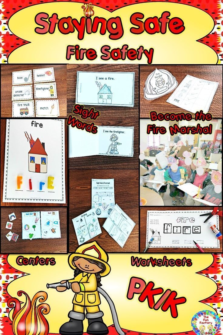 October is fire safety month. Your PK and K students will