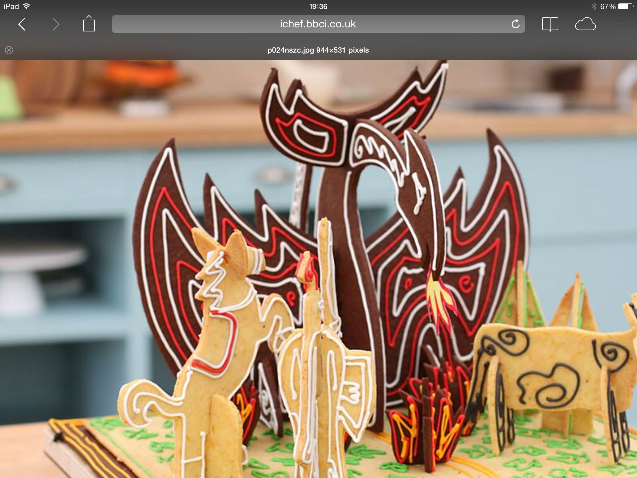 Great British Bakeoff. Luis' and the Dragon. 3D
