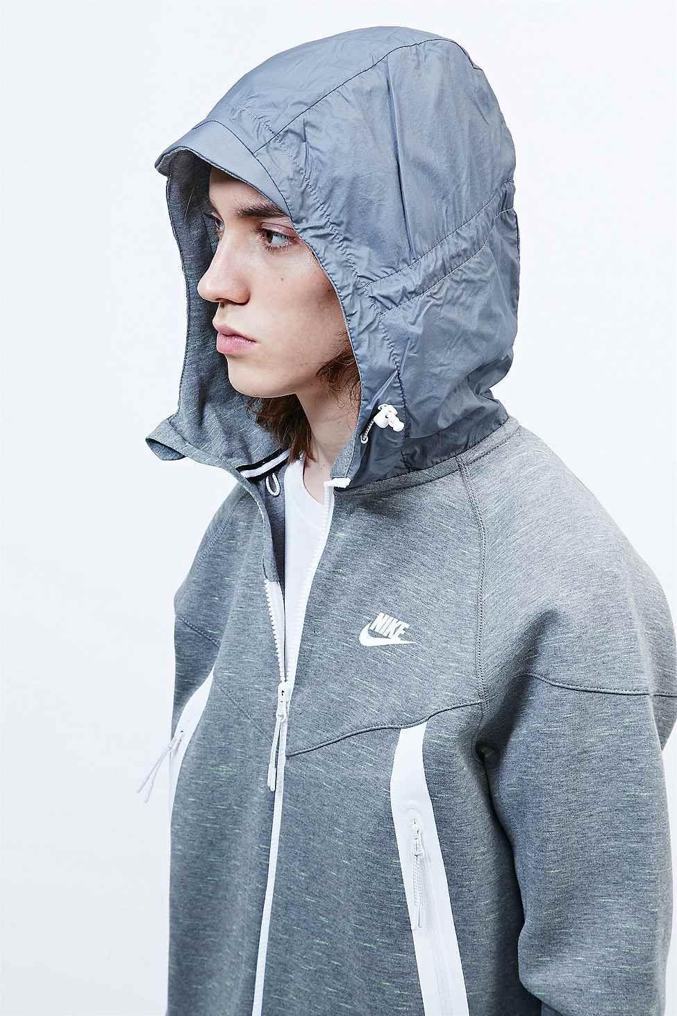 Nike Tech Fleece Super Zip Hoodie in Grey Streetwear