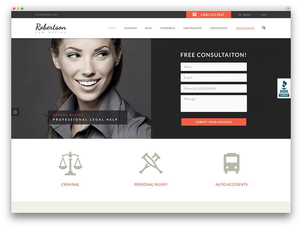 9-law-office-Templates-WordPress-para-Advogados… | Templates ...