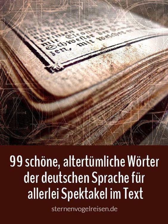 99 alte deutsche Wörter für allerlei Spektakel im Text