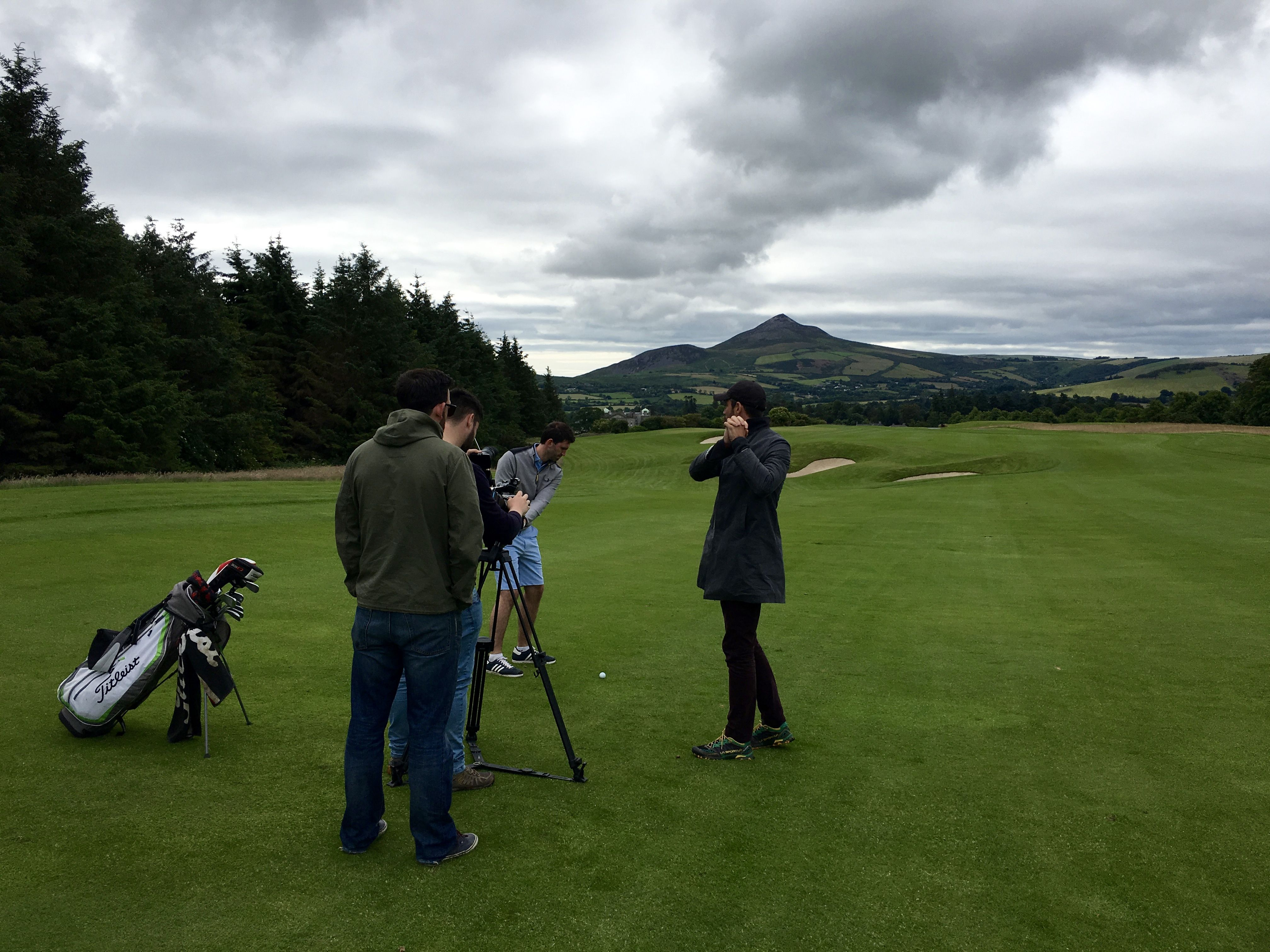 Filming today at the stunning Powerscourt Golf Club with a