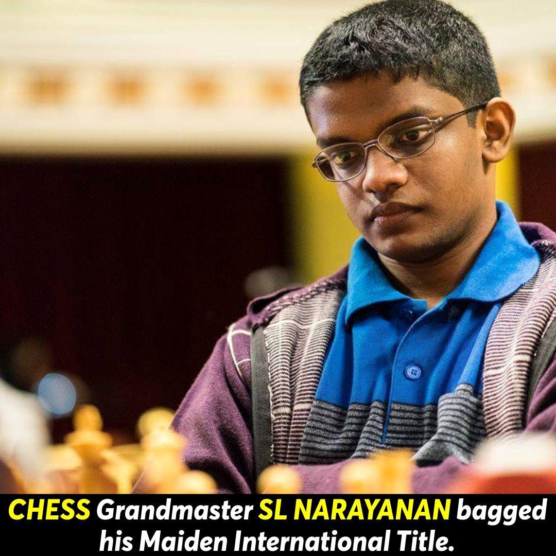 Chess grandmaster sl narayanan sports awards sports