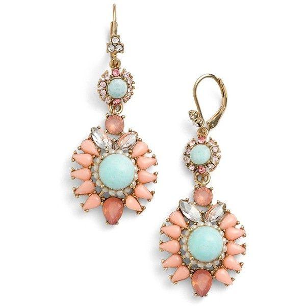 gemstone drop earrings - Grey Marchesa gq5GSox