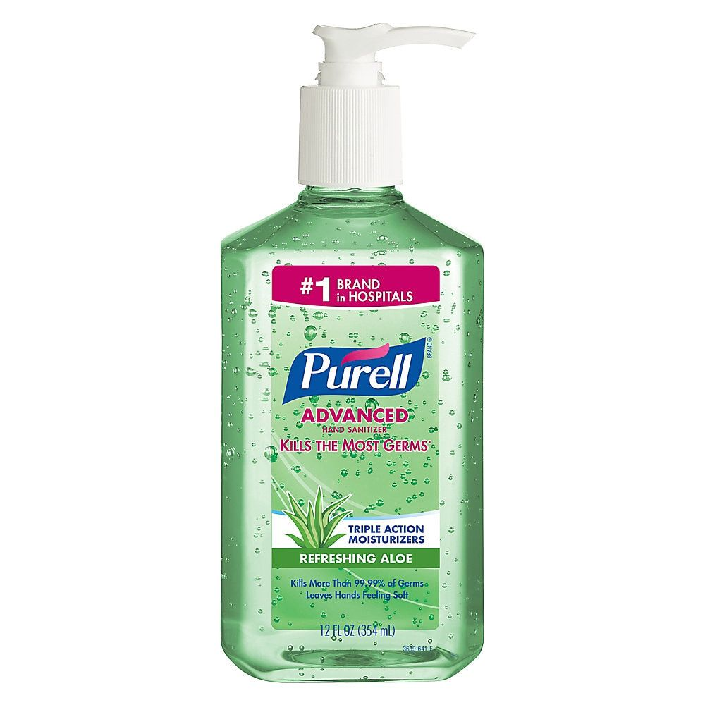 Purell Advanced Hand Sanitizer Soothing Gel Pump Bottle 12 Oz