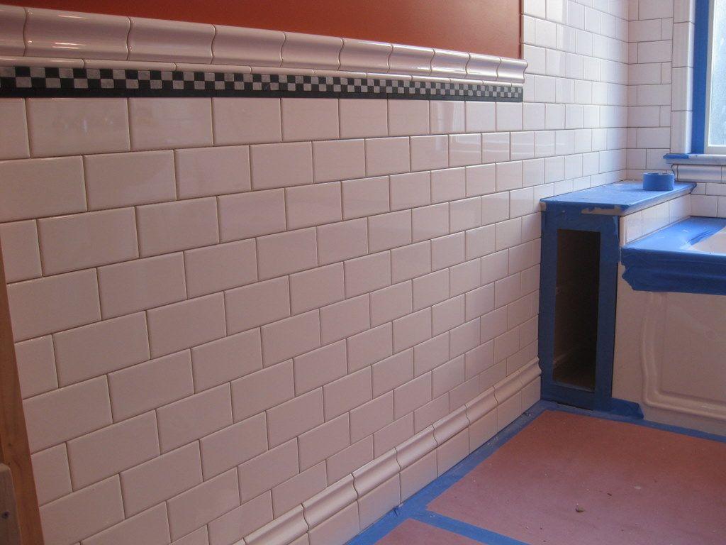 Vertical chair rail bathroom google search bathromm reno inverted chair rail as baseboard tile doublecrazyfo Images