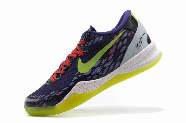 reputable site efca9 55e3d Nike Kobe 8 Year of the Snake Lakers Purple Yellow Mamba