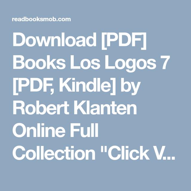 download pdf books los logos 7 pdf kindle by robert klanten