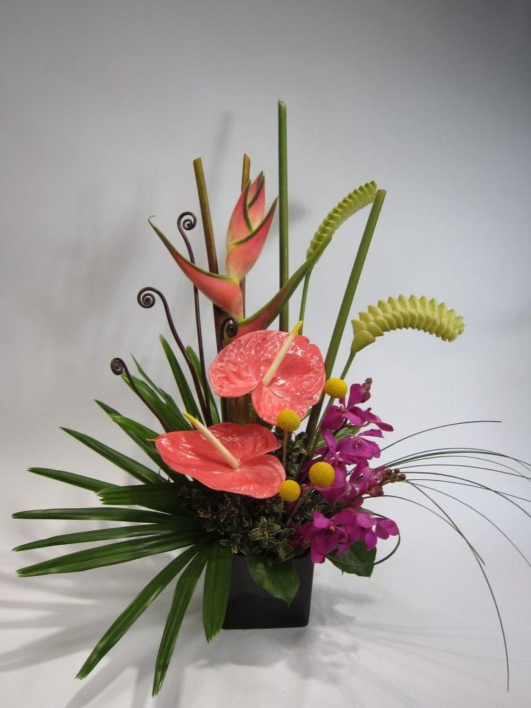 Small floral arrangements tropical arrangement florals
