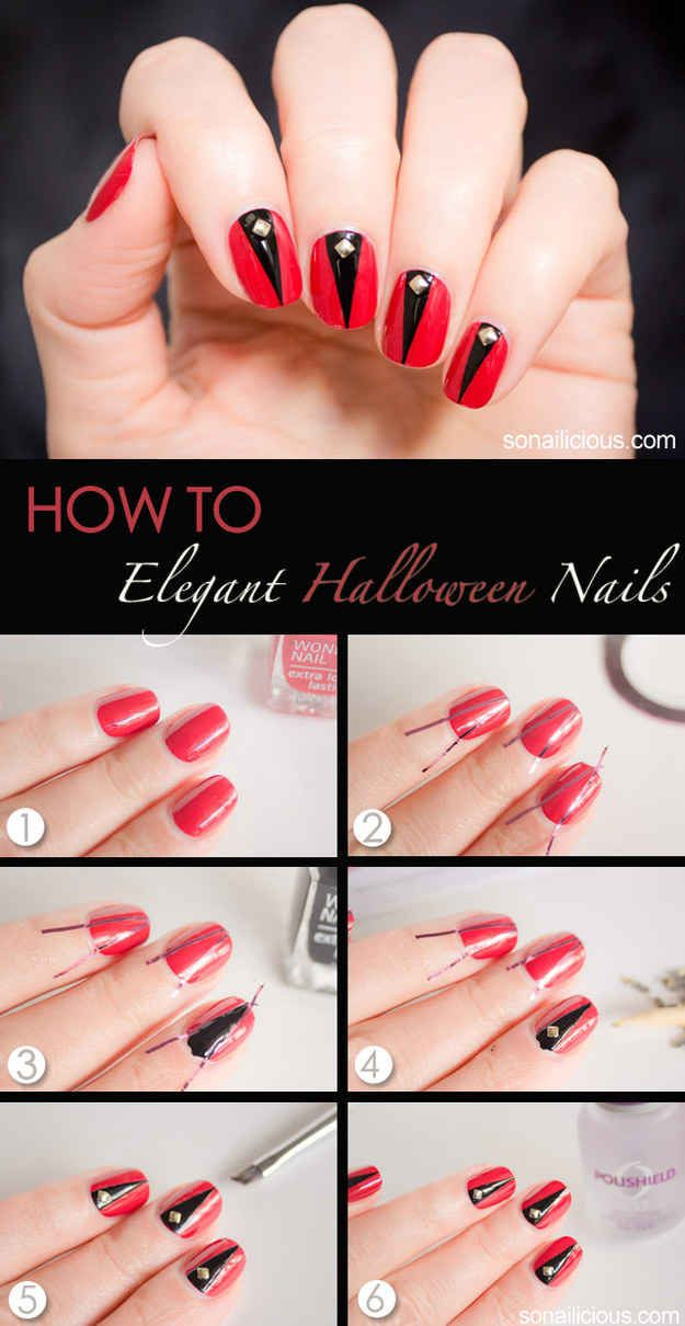 20 Diy Nail Tutorials You Need To Try This Fall Cute Halloween Nails Halloween Nail Art Tutorial Nail Art Tutorial