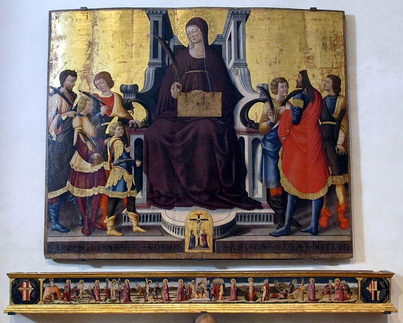 491. Neri di Bicci - Santa Felicita e i suoi figli - 1464 - Firenze, Chiesa di Santa Felicita
