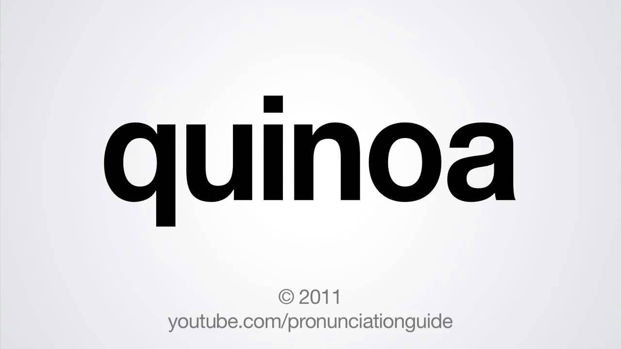 How to Pronounce Quinoa | A Sense of Humor | How to