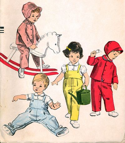 1959 Description: OVERALLS, CREEPER, JACKET, BLOUSE AND HAT Size: 1 B20