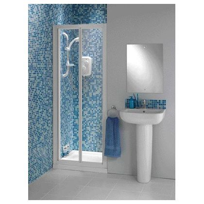 Haze Bi Fold Recess Shower Enclosure And Tray White At Homebase Be Inspired And Make Your House A Home Buy Now Shower Enclosure Bathroom Bathroom Mirror