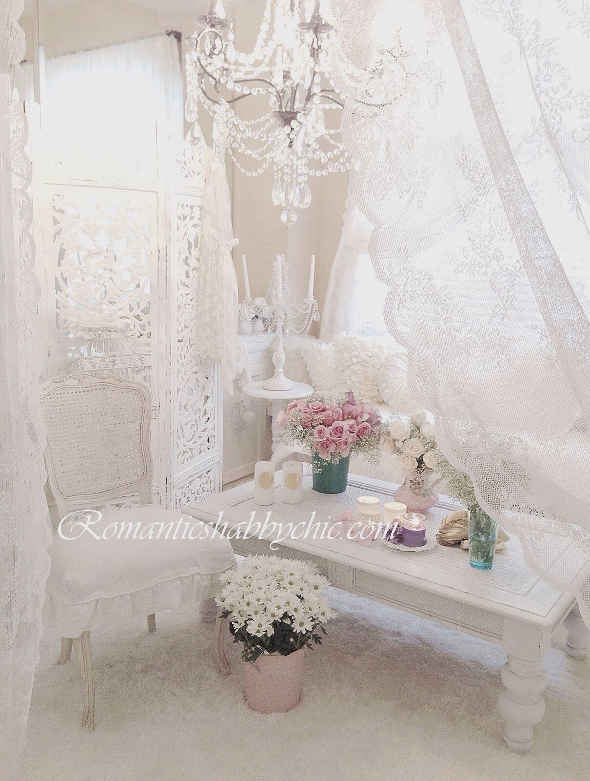Romantike… | Romantic shabby chic, Shabby chic bedrooms ...