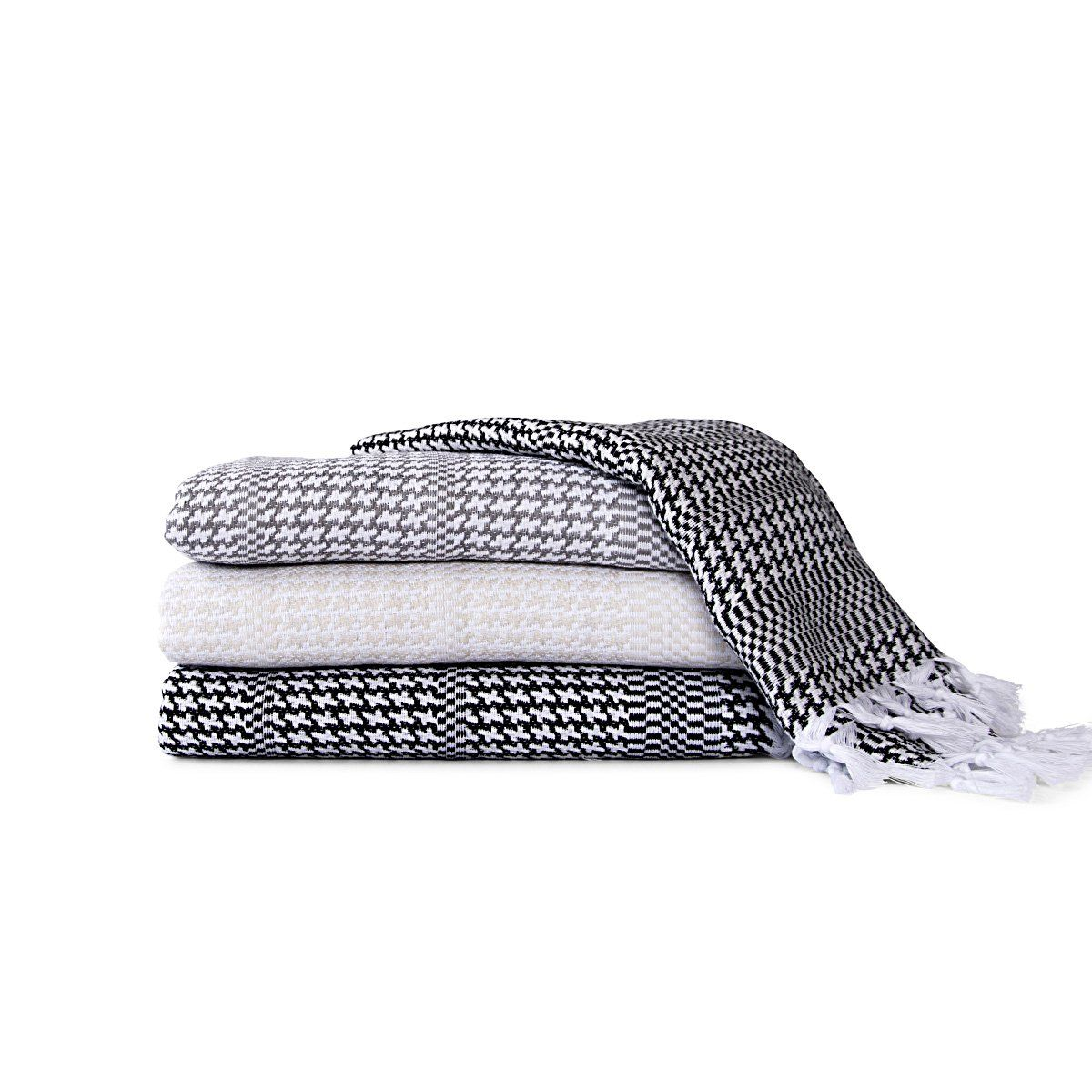 Houndstooth Turkish Towel Collection | Towels, Bath and Cotton towels