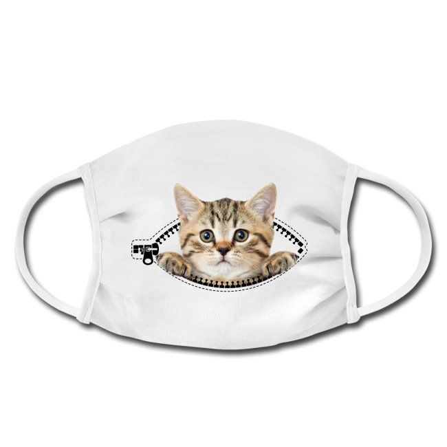 Katzen T-Shirts ⭐⭐⭐⭐⭐ | cat zipper pocket - Gesichtsmaske