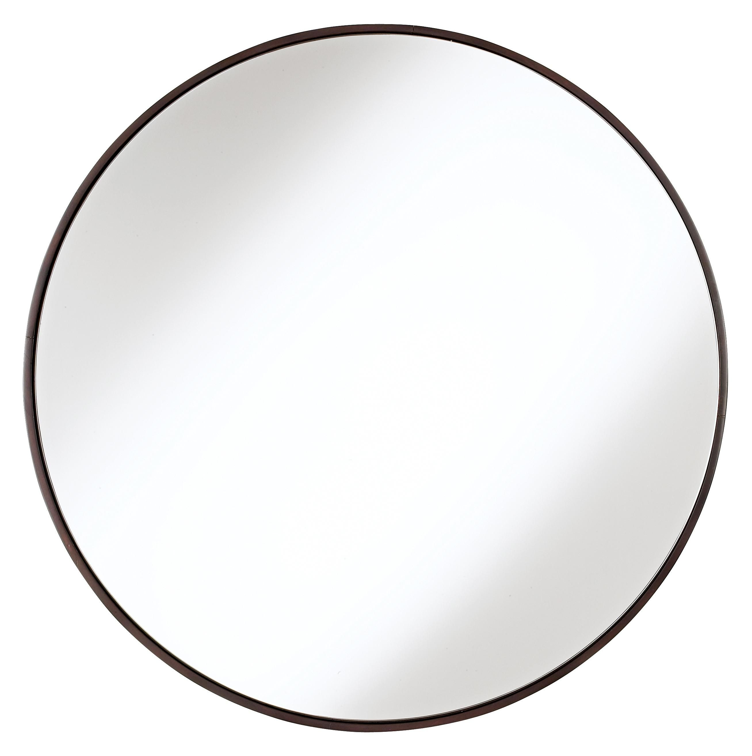 Round wood trimmed 34 wide wall mirror 34 wall mirrors and round wood trimmed 34 wide wall mirror amipublicfo Images