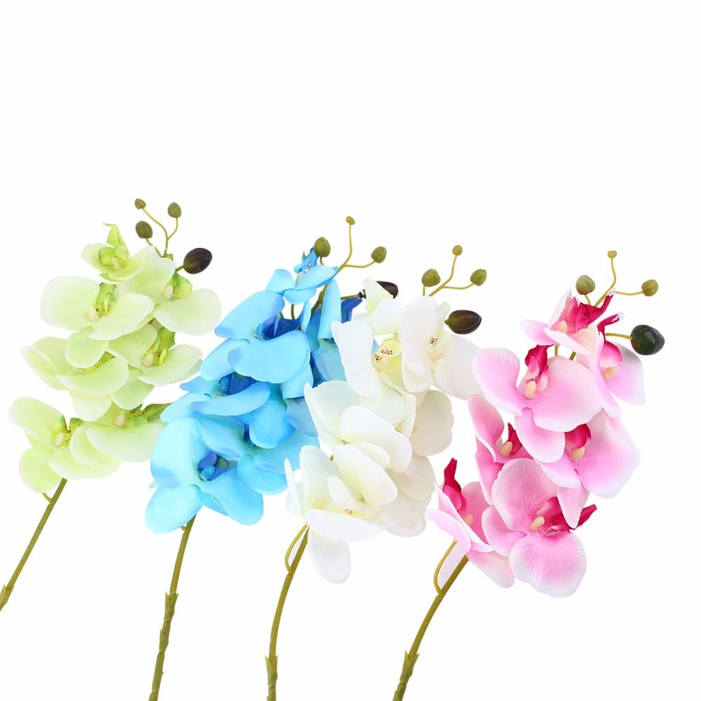 6 Colors Artificial Flower Butterfly Orchid Flower Home Wedding