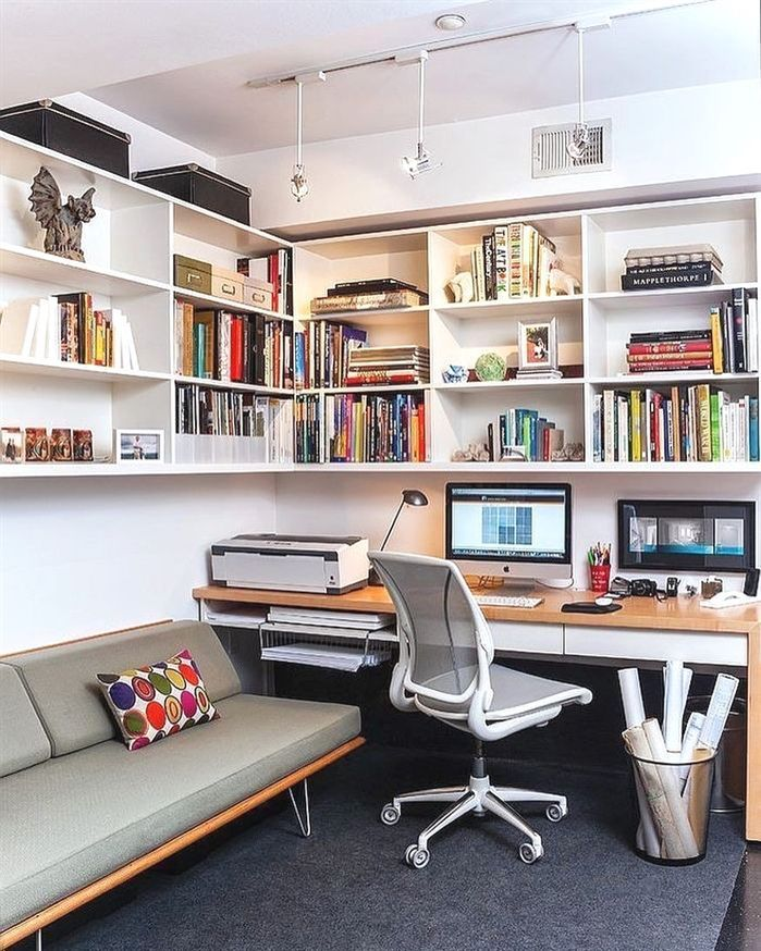 Photo of Leading 30 Stunning Office Design #homeofficebuiltins # home office2persondesk #h …