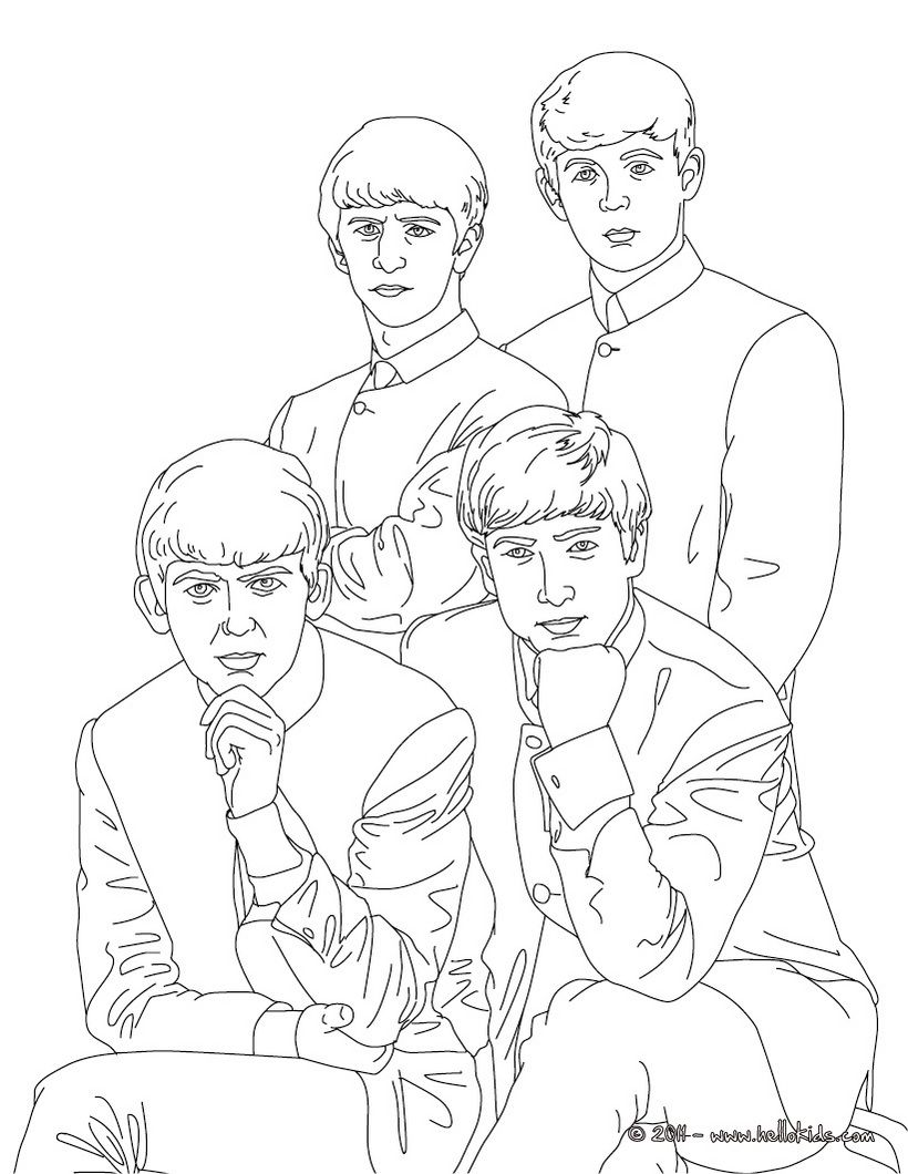 British Celebrities Colouring Pages The Beatles Coloring Pages People Coloring Pages Free Coloring Pages