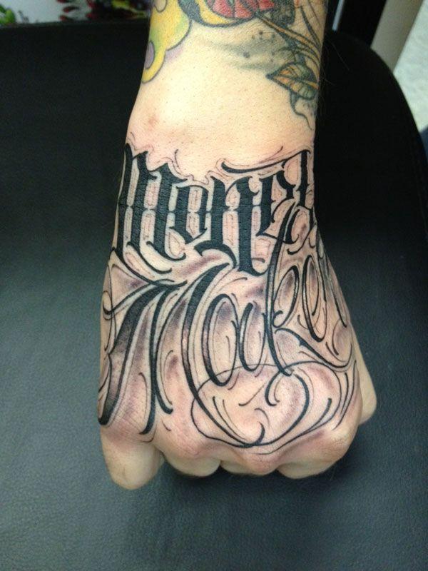 Big Meas Lettering Tattoo Tattoo Lettering Tattoo Lettering