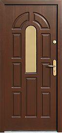 Exterior wooden doors, pattern 578s1, dark walnut …