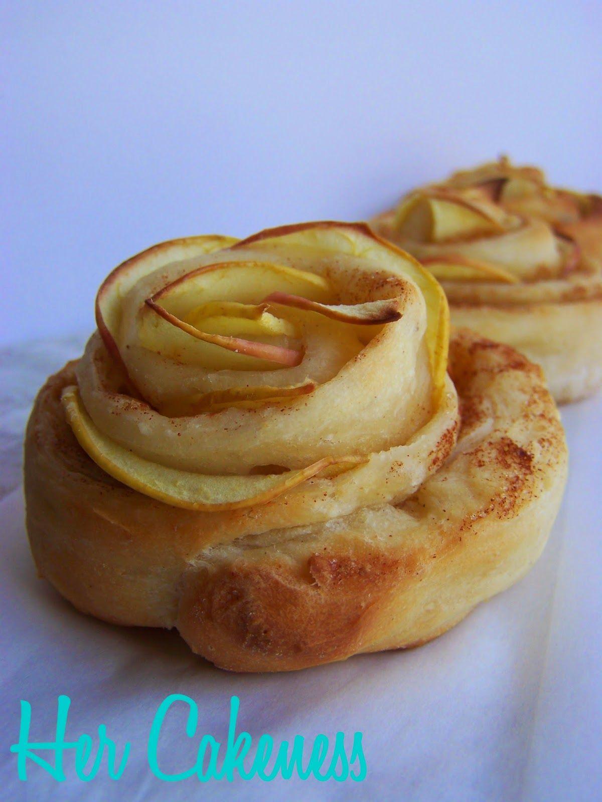 Her Cakeness: Apfel-Rosen, apple roses
