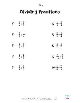 Dividing Fractions Worksheet And Notes Dividing Fractions Fractions Worksheets Dividing Fractions Worksheets