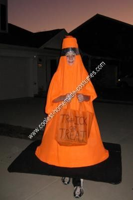 homemade traffic cone halloween costume idea as my kids get older i require that they get more creative with their halloween costume ideas
