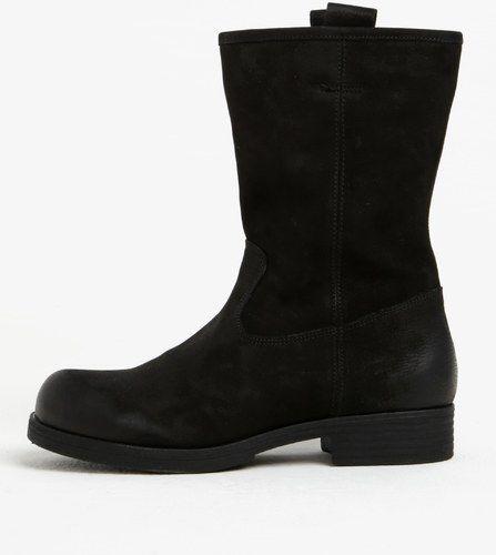 54ab1048e58e8 Čierne dámske kožené nízke čižmy s.Oliver | topanky | Čižmy, Topánky ...