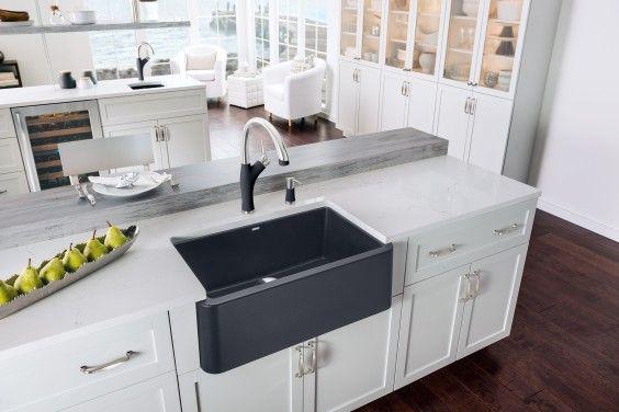 Blanco Ikon Apron Front Sink A Matte Black Farmhouse Sink