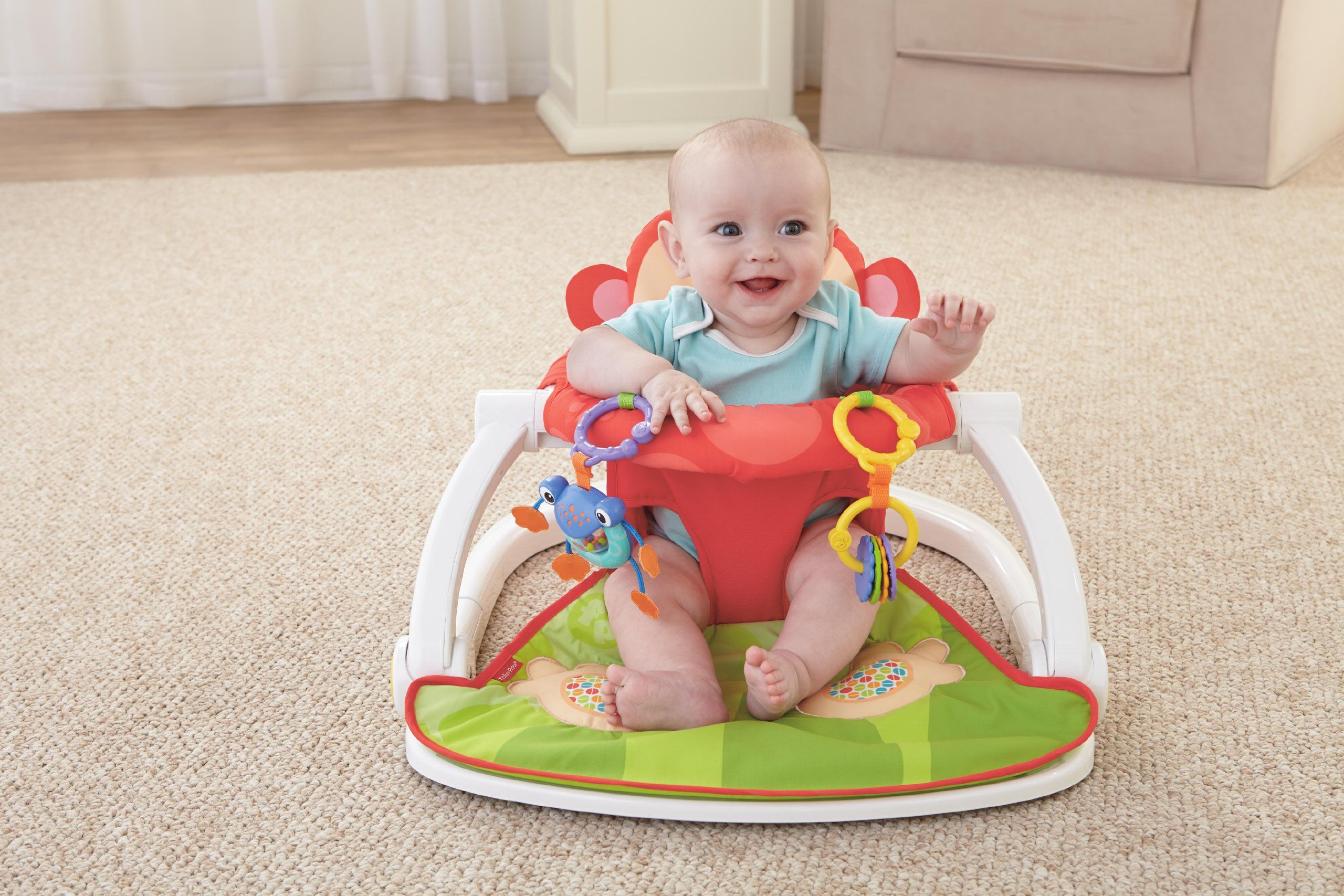 Fisher Price Deluxe Sit Me Up Floor Seat Baby Chair Baby Tech