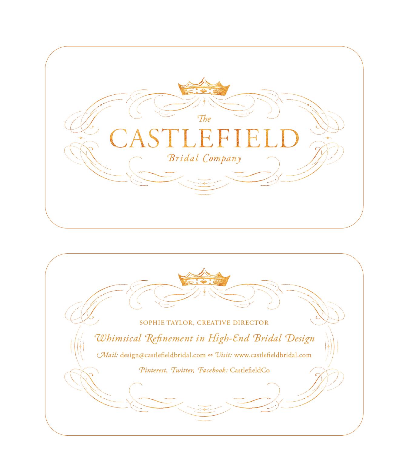 The Castlefield Bridal Company   Business Card Design ...