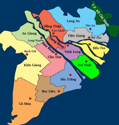 Kham Pha Bản đồ Miền Tay để Co được Hanh Trinh Du Lịch đang Nhớ Vietnam Map Mekong Delta Vietnam Tra Vinh