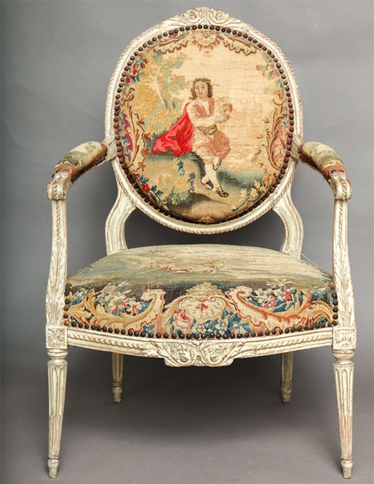 18th Century Louis XVI Chair - Pair Of 18th Century Louis XVI Chairs French Interiors French