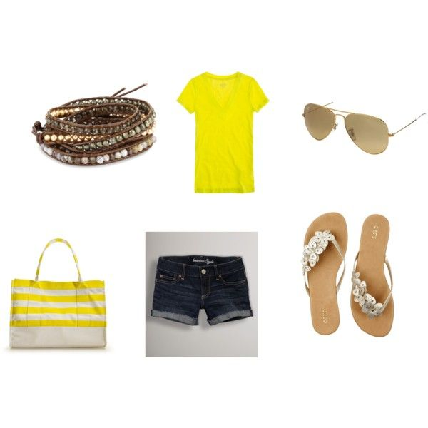 Beach Look, created by Ellie Roth on Polyvore
