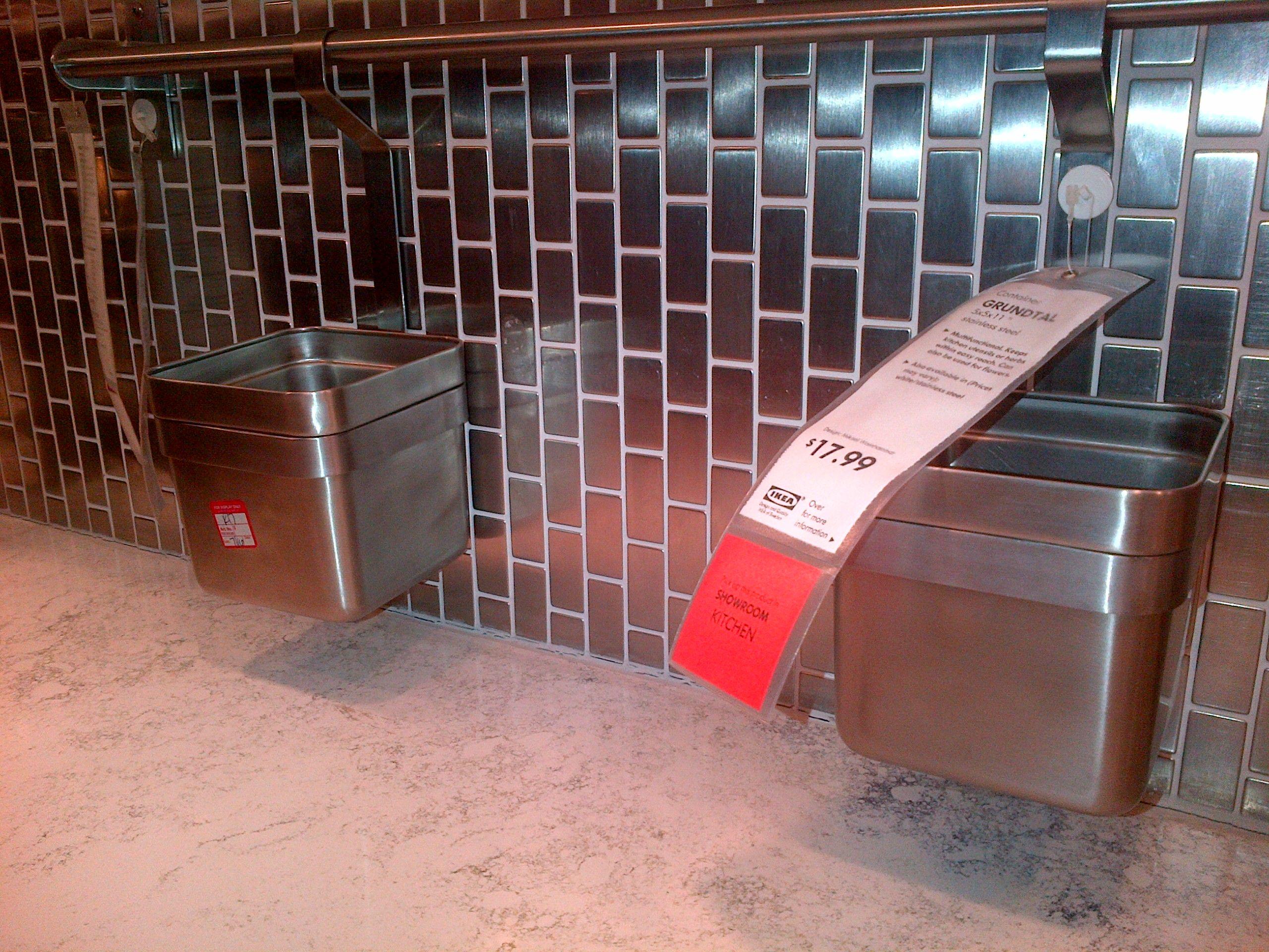 Ikea Stainless Steel Backsplash