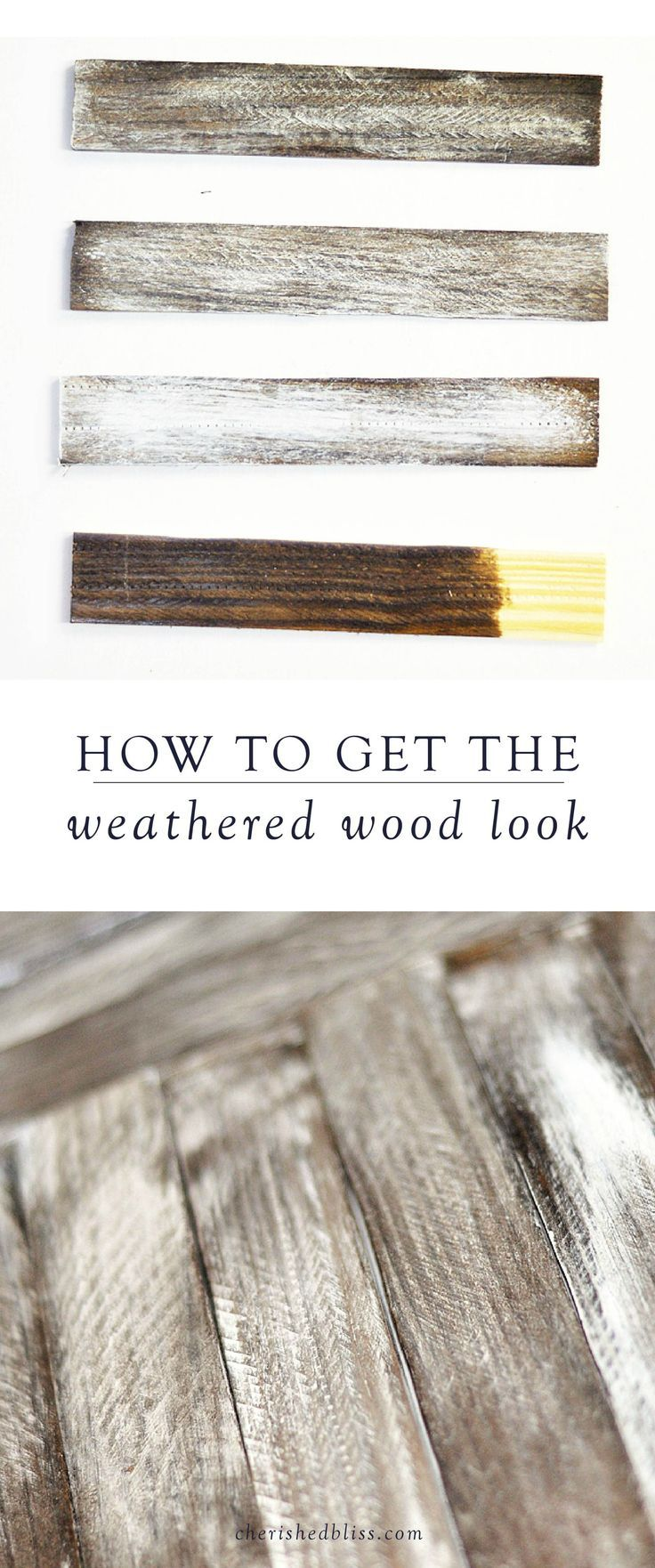 Owen s olivia whitewashed wood technique tutorial - Tutorial For Distressing And Antiquing New Wood Wood Stained Weathered Distressed Finishes Diy Pinterest Tutorials Woods And Craft