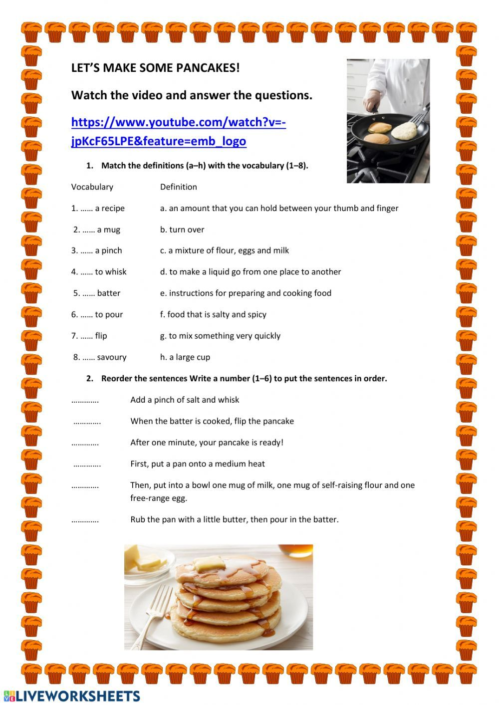 Cooking Vocabulary Interactive And Downloadable Worksheet You Can Do The Exercises Online Or Download The Worksh Easy Sandwich Recipes Recipes Cooking Recipes [ 1413 x 1000 Pixel ]