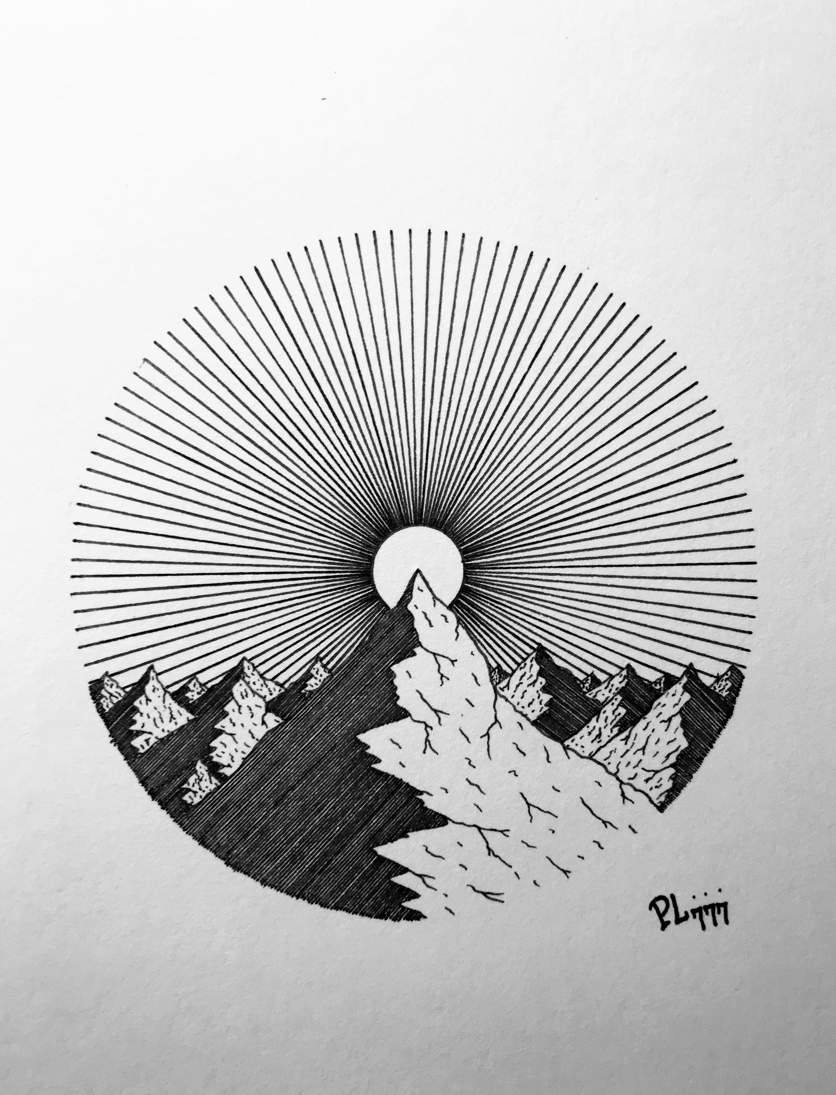 Dibujo A Lapicero De La Naturaleza Dibujo De La Naturaleza Arte De La Pluma Arte Dibujos En Lapiz Ilustraciones De Tinta
