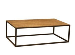 Table Basse Rectangulaire En Orme Et Fer New York Hanjel Decoclico Table Basse Rectangulaire Table Basse Table Basse Industrielle