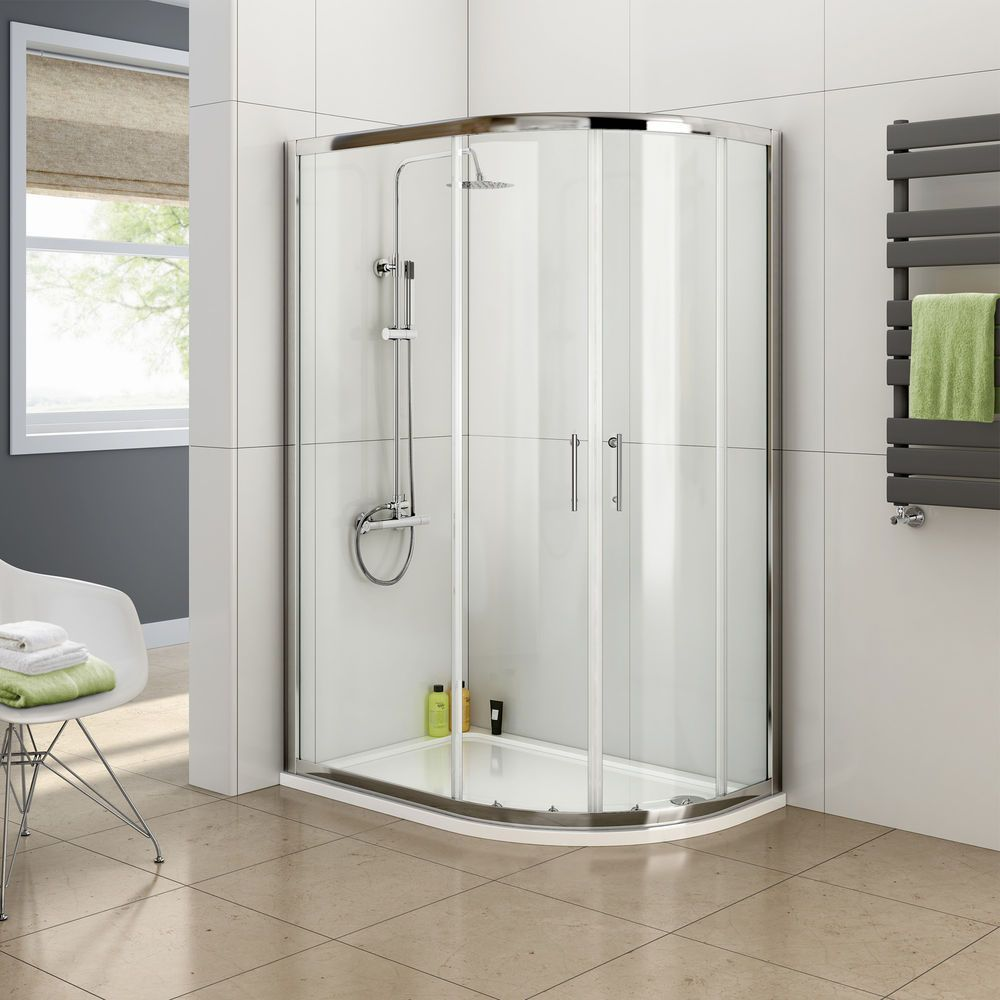 1000x800 Mm Quadrant Shower Enclosure Easy Clean Glass Space Saving Design 6mm Thick Safety Glass Fully Waterproof Tested 20mm Inward Adjustment For Out O 1950 S