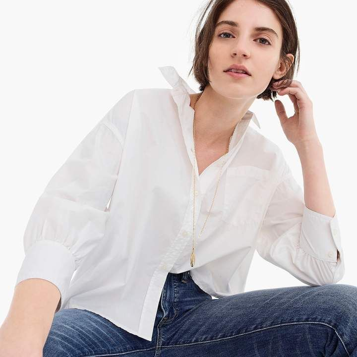 a964d285077 J.Crew Oversized button-up in cotton poplin | current style | Shirts ...